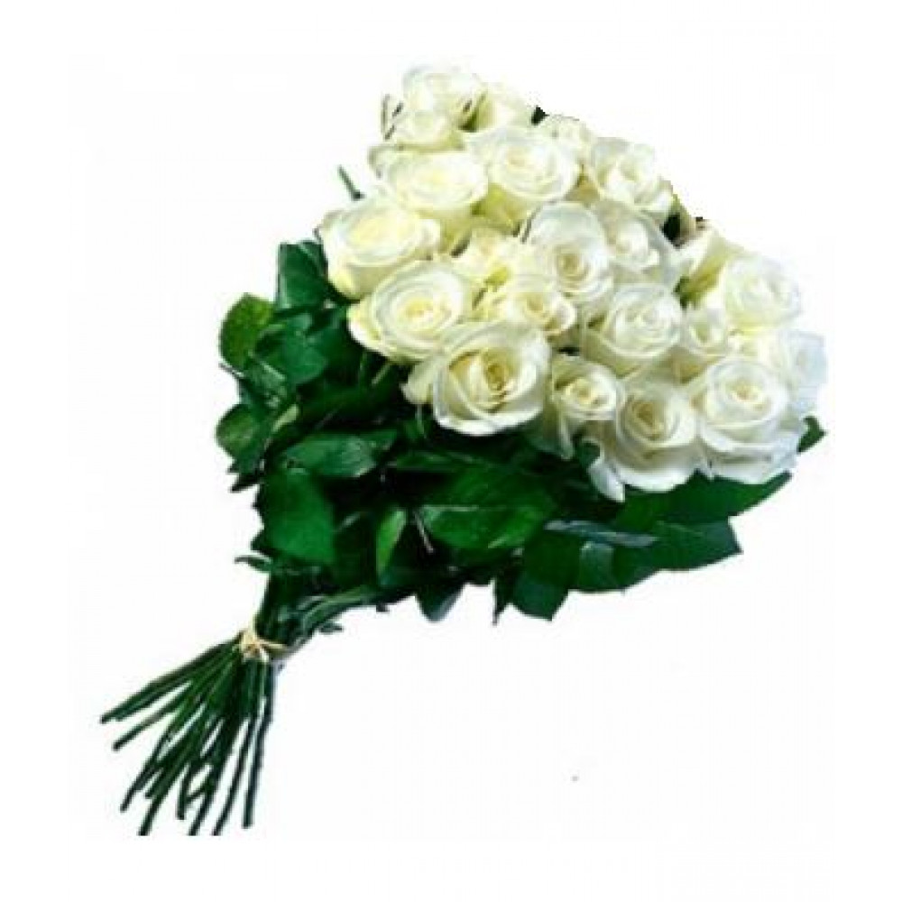 Long White Roses In A Beautiful Bouquet With Delivery In Ventspils