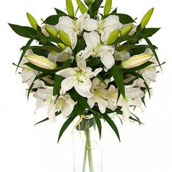 White lilies. Choose number of flowers!