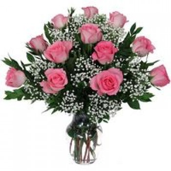 15 pink rose bouquet